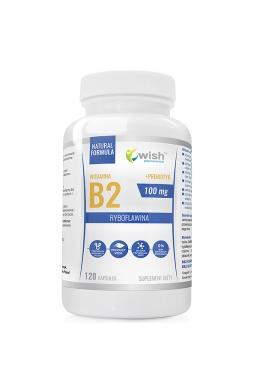 WITAMINA B2 100mg RYBOFLAWINA + PREBIOTYK Produkt Vege 120 kapsułek