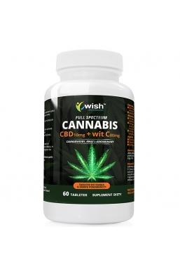 CBD 10mg + Witamina C 80 mg FULL SPECTRUMC 60 tabletek do ssania PRODUKT VEGE